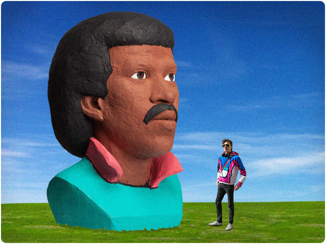 A sculpture of Lionel Richie's head will be featured at Bestival 2013.