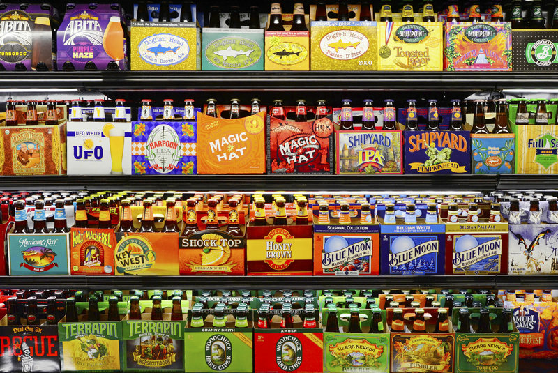 Craft beer brands purchased by larger companies now almost dominate many supermarket shelves.