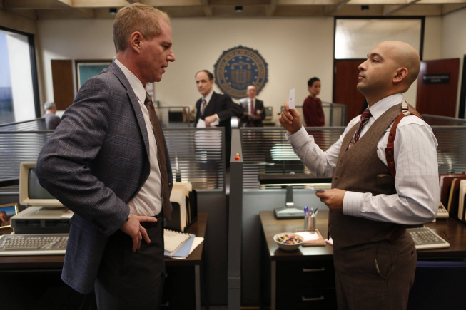 (L-R) Noah Emmerich as FBI Agent Stan Beeman, Maximiliano Hernandez as FBI Agent Chris Amador in 'The Americans.'