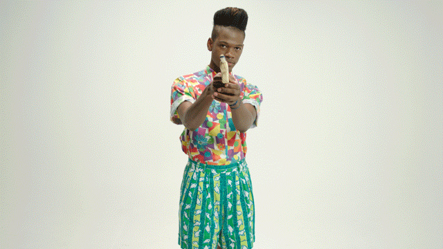 Singer Shamir in his 2014 music video 'On The Regular'