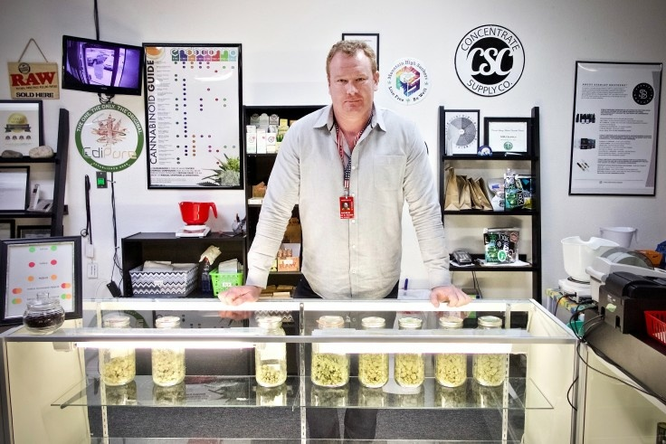 Andrew Heaton runs the medical marijuana dispensary WTJ MMJ Supply in Colorado.