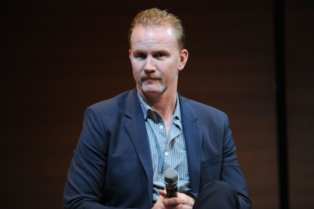 Producer Morgan Spurlock speaks during the