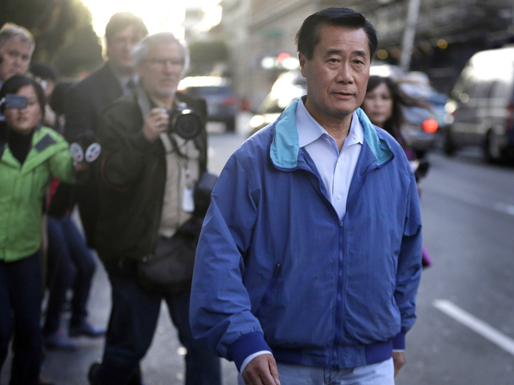 San Francisco state Sen. Leland Yee leaves the San Francisco Federal Building after he was arrested and released on bond Wednesday.