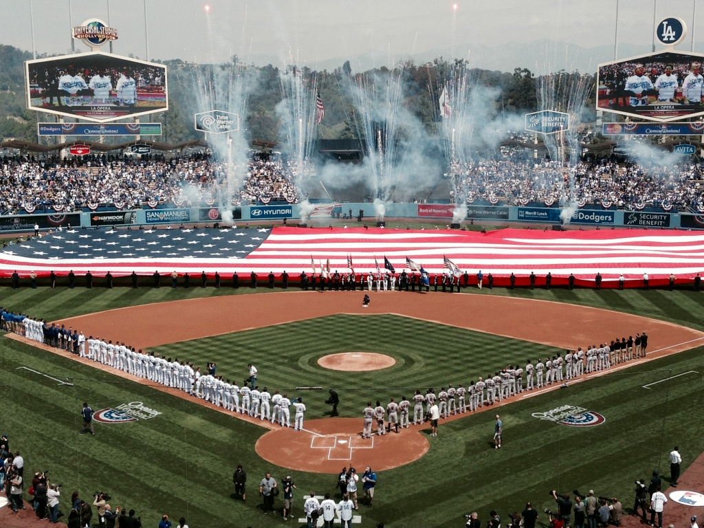 There were fireworks in the Dodgers clubhouse, when Yasiel Puig showed up 20 minutes late; and fireworks on the field, to mark the 2014 Home Opener at Dodger Stadium.