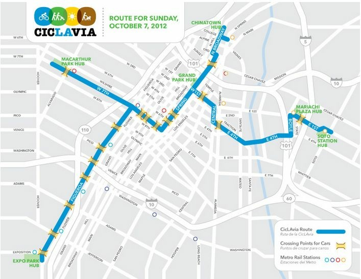 Route map (October 7, 2012)