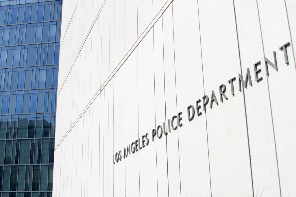 Los Angeles Police Department Headquarters in downtown Los Angeles on August 17, 2017.