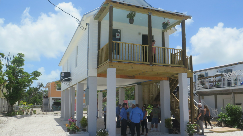 This 760 square-foot cottage, elevated and built to FEMA standards, is one of several planned homes that will serve as workforce housing in the Florida Keys.