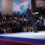Obama Holds Education Town Hall In DC School