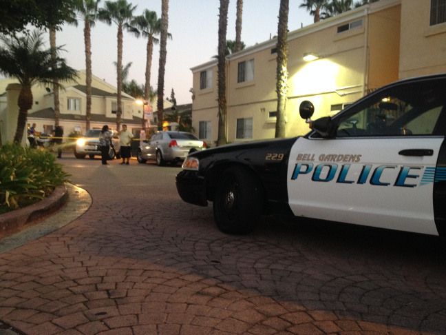 The location where Bell Gardens Mayor Daniel Crespo was shot on Tuesday, Sept. 30, 2014.