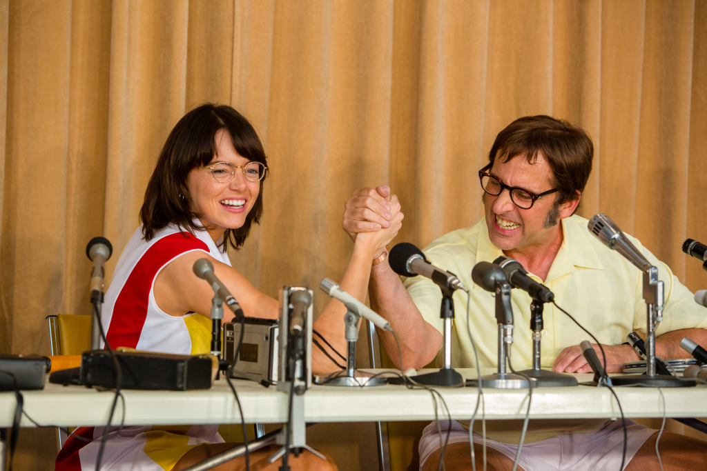 Emma Stone and Steve Carell in the film