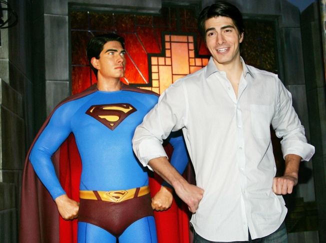 Brandon Routh Unveils Superman Wax Figure At Madame Tussauds