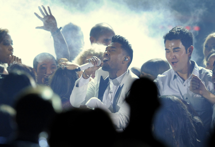 Miguel performs at the Billboard Music Awards at the MGM Grand Garden Arena on Sunday, May 19, 2013 in Las Vegas.