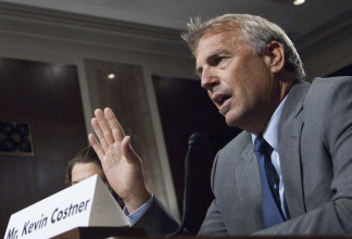 Kevin Costner speaks during a hearing on 'Harnessing Small Business Innovation: Navigating the Evalaution Process for Gulf Coast Oil Cleanup Proposals' in front of the U.S. Senate Committee on Small Business and Entrepreneurship at Senate Dirksen Building on June 17, 2010 in Washington, DC.