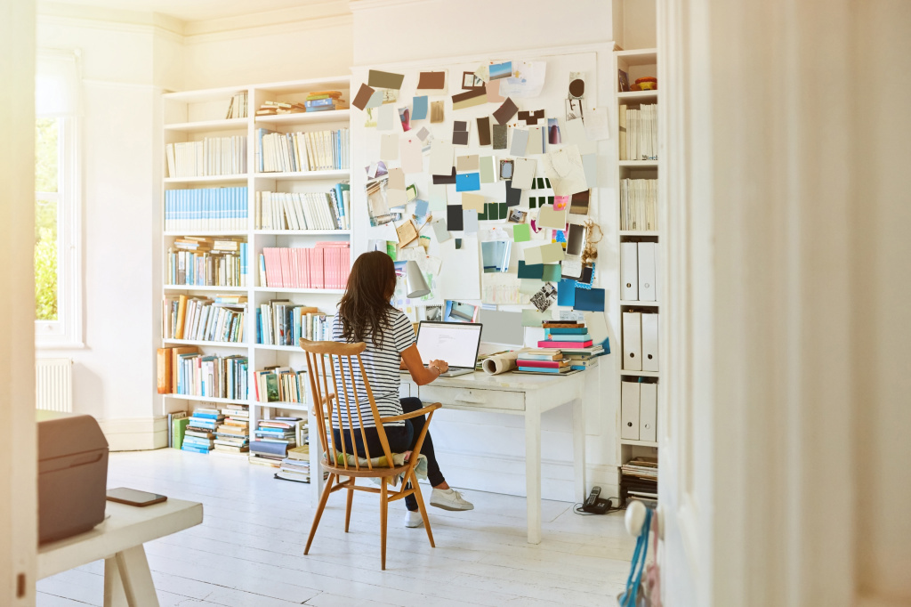 Freelance workers often turn their home into an office