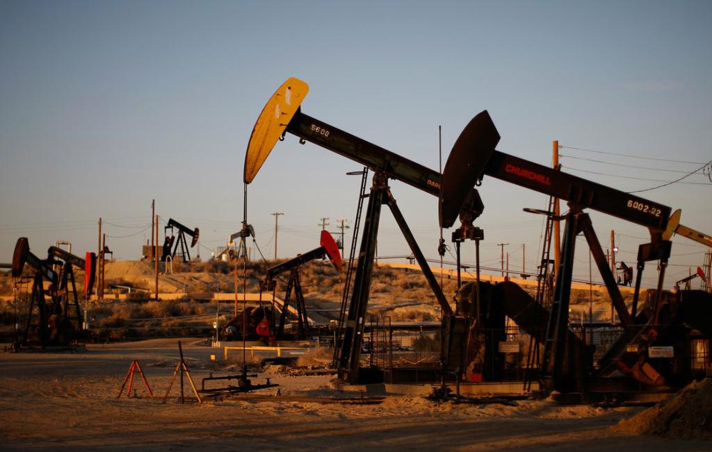 Oil wells near McKittrick, California.