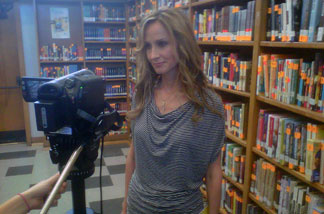 Country music singer Chely Wright visits Monroe High in North Hills to discuss a national anti-gay bullying campaign.