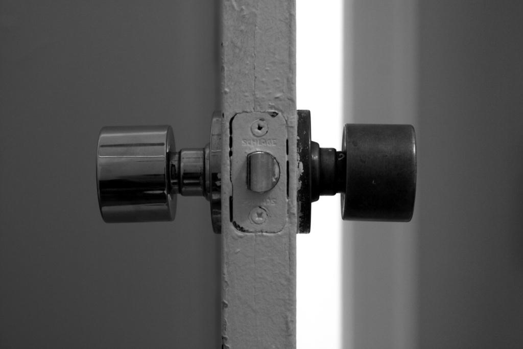 File: An open apartment door.