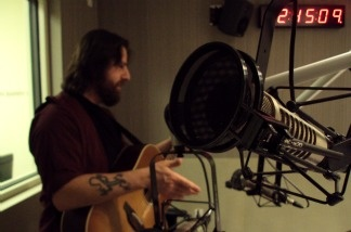 Sean Rowe stopped by the KPCC studio to play some music for the Madeleine Brand Show.