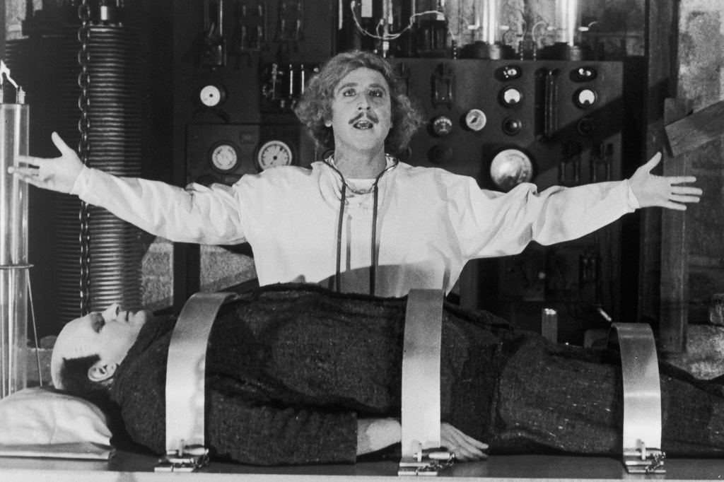 Still from the film, Young Frankenstein