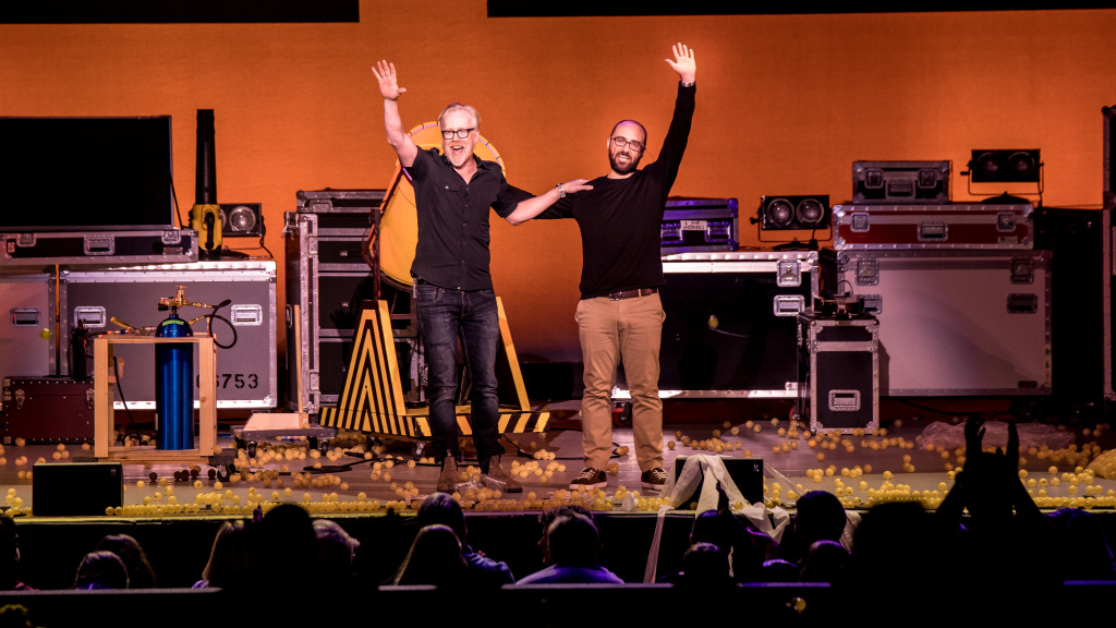 Adam Savage and Michael Stevens will bring Brain Candy Live! to the Segerstrom Center for the Arts on April 4th.