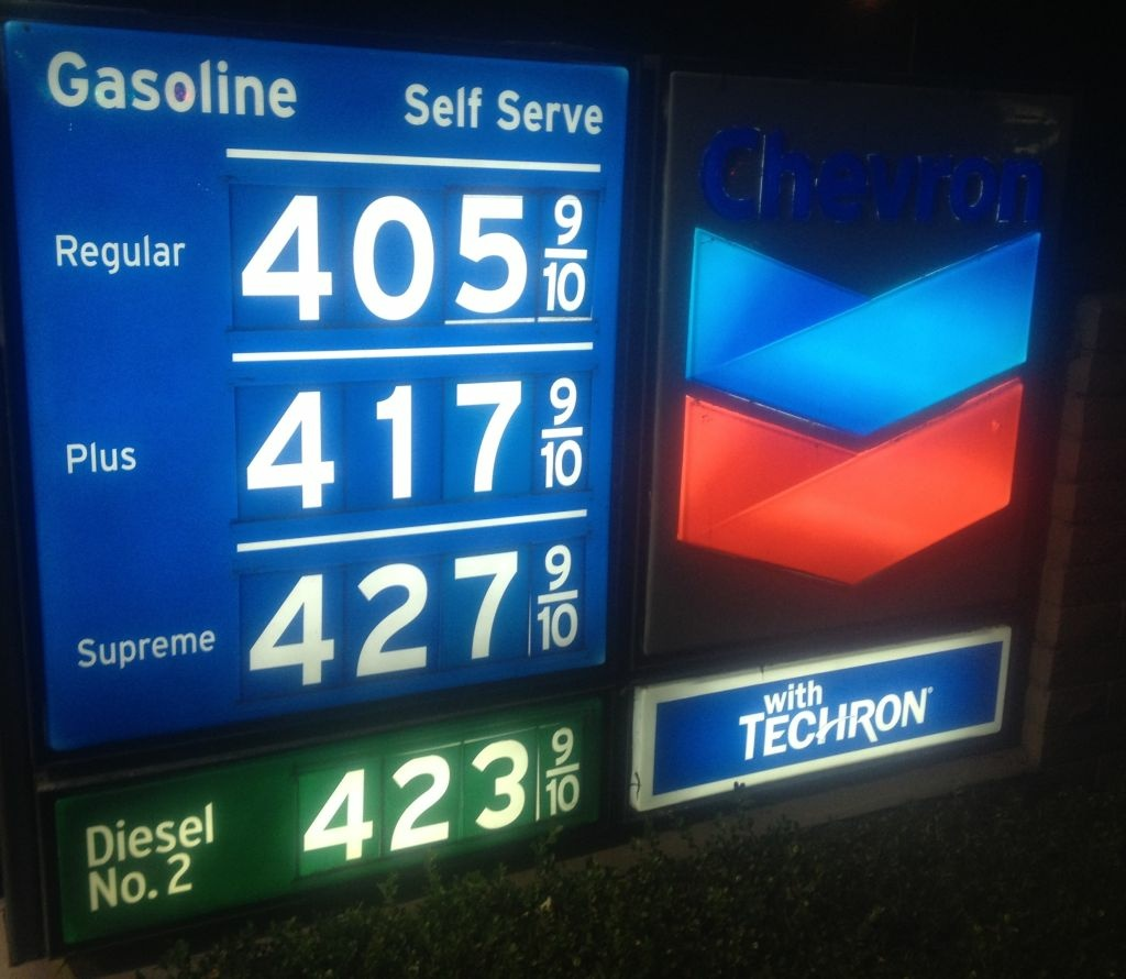 Gasoline prices continue declining in Southern California after a record high of $4.70 a gallon in October 2012.