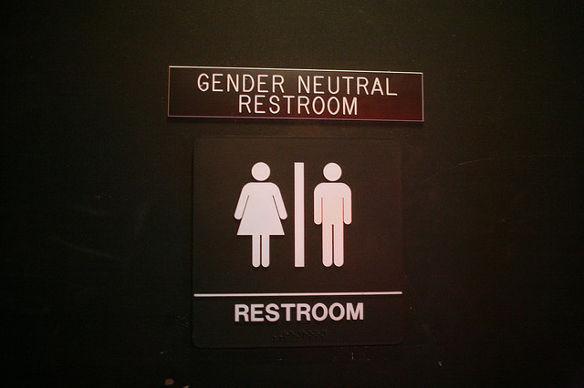 A law that requires gender-neutral restrooms takes effect Thursday in West Hollywood.