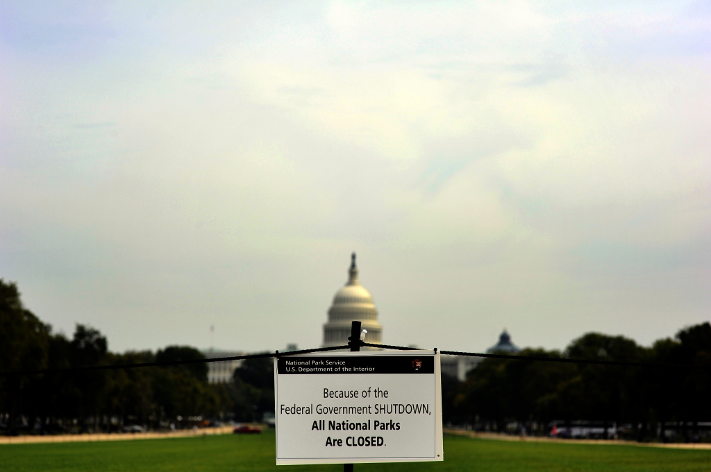 A closure sign is posted on the national mall near the US Capitol in Washington, DC, October 3, 2013, as seen during the third day of the federal government shutdown. US President Barack Obama on October 3, directly attacked Republican Speaker John Boehner, saying he could end a 'reckless' US government shutdown in just five minutes.