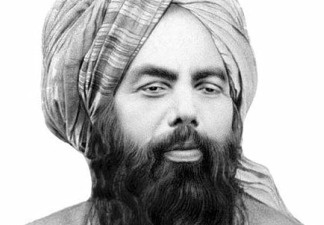 Ahmadiyya founder Mirza Ghulam Ahmad in an undated photo.