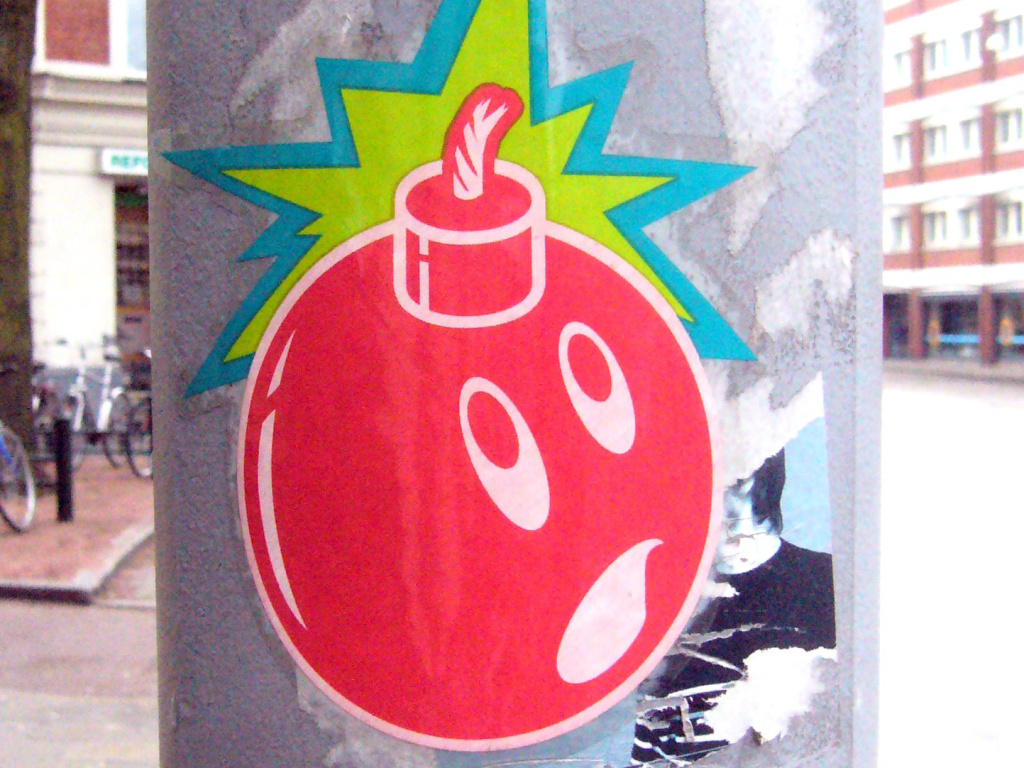 bomb street art