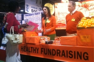 One of the few exhibitors that offer healthy fundraising for public schools at the annual statewide PTA convention in Long Beach.