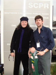 John Rabe and Donovan at the Mohn Broadcast Center. Monday, March 8.