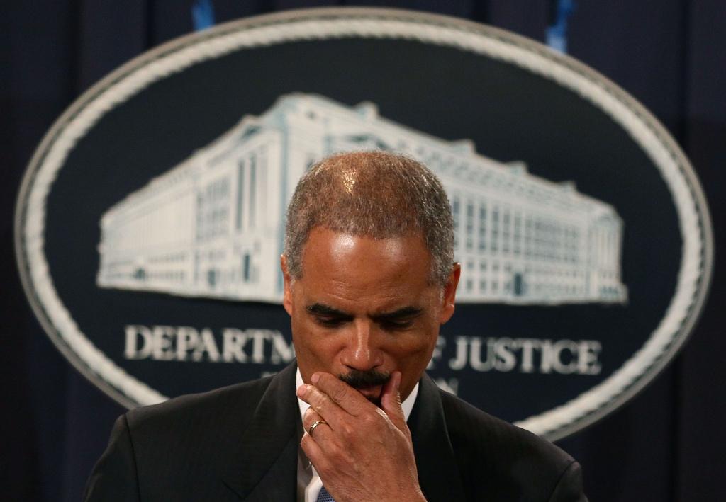 Attorney General Eric Holder.