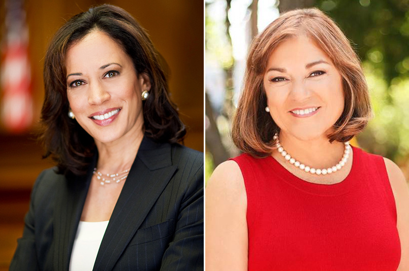 California Attorney General Kamala Harris favors national climate change legislation, backs immigration reform and supports President Barack Obama's plan for free tuition at community colleges. Orange County Congresswoman Loretta Sanchez describes her platform for the Senate as pro-environment, pro-labor and pro-civil rights.
