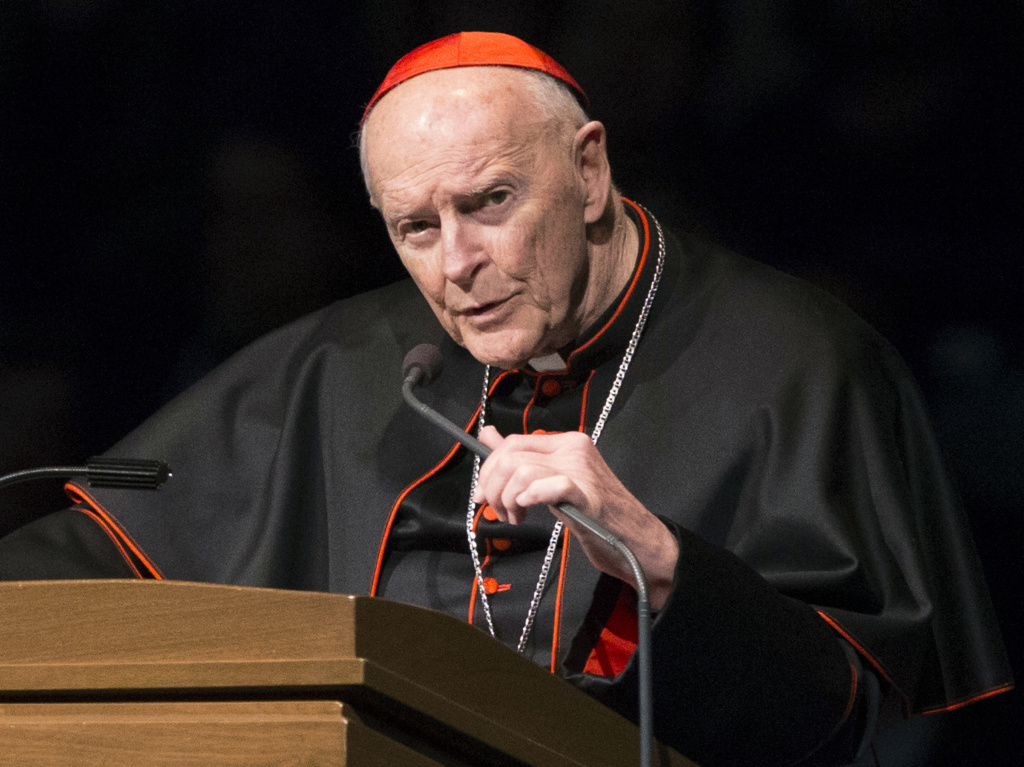 A new Vatican report details the church's handling of abuse allegations against former Cardinal Theodore McCarrick, shown here in 2015.