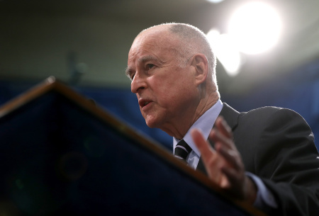 Gov. Jerry Brown Reveals Revised California State Budget