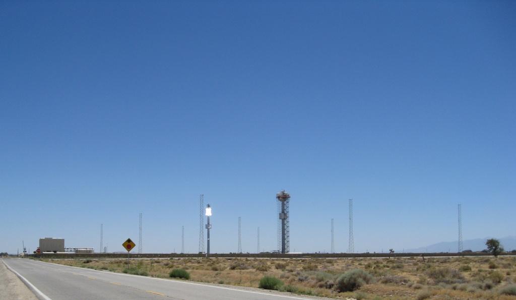 Road north of Lancaster, California.