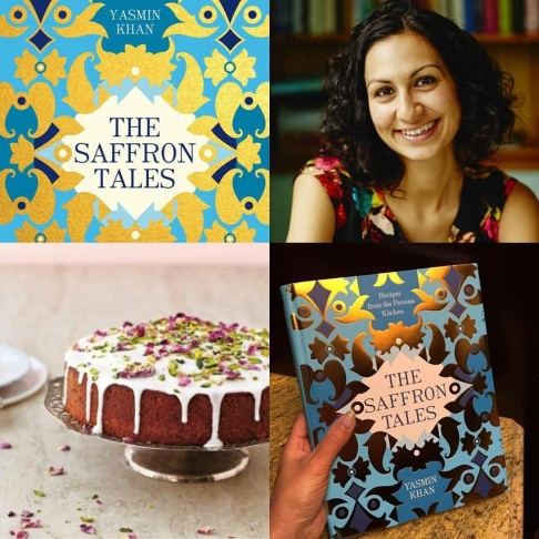 Author, Yasmin Khan, plus a Persian love cake