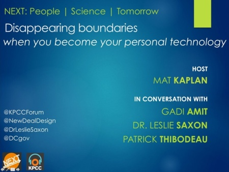 NEXT: Disappearing boundaries – when you become your personal technology