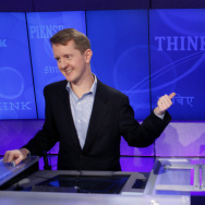 """Jeopardy!"" contestant Ken Jennings, who won a record 74 consecutive games, concedes to opponent Watson in February 2011."
