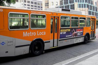 File photo of an MTA bus in Los Angeles, Calif.