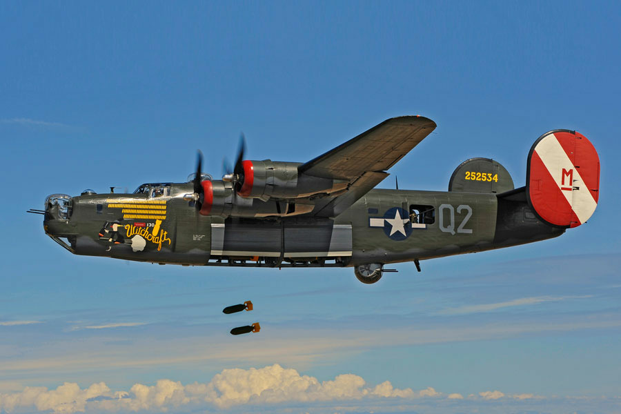 The world's only flying B-24J, a World War II bomber, fully restored by the Collings Foundation.