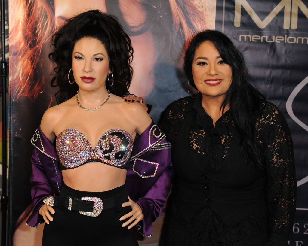 Selena's wax figure made a special appearance at the Walk of Fame Reception celebrating her legacy on November 3, 2017 in Los Angeles, California.