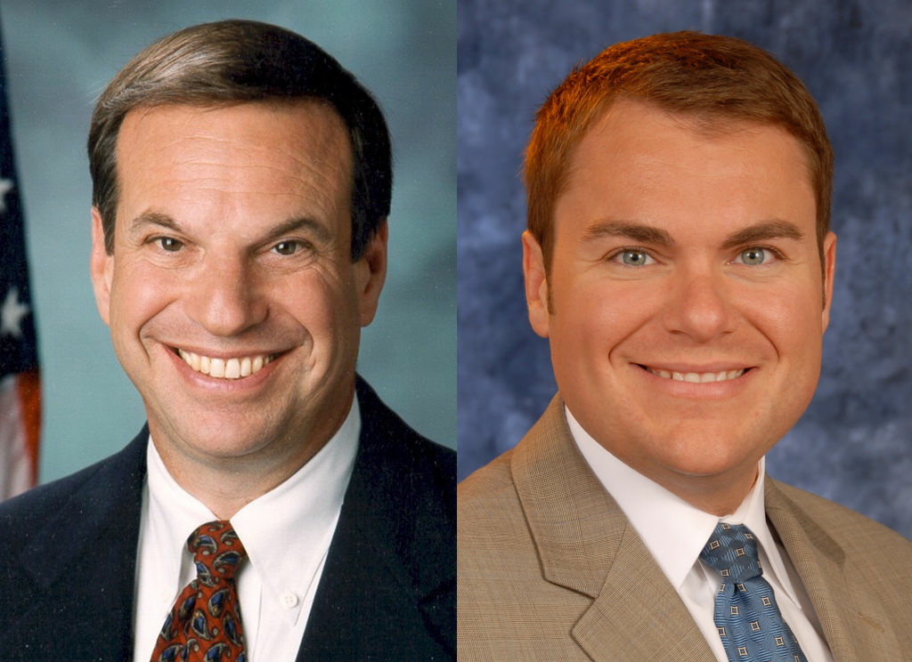 San Diego mayoral candidates Democratic Congressman Bob Filner (L) and Republican Carl DeMaio (R).