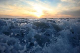 Waves breaking on Sunset Beach.