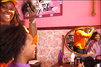 Natalia Brown with Oh My Nappy Hair's Rosario Schuler.