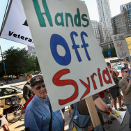 Anti-War Protesters Rally At Obama Campaign Headquarters