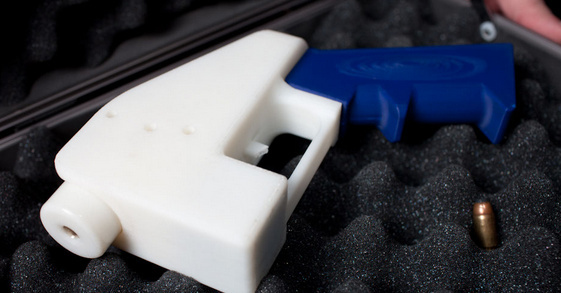 "The ""Liberator"" is a plastic pistol fashioned by a 3-D printer by a company in Texas."