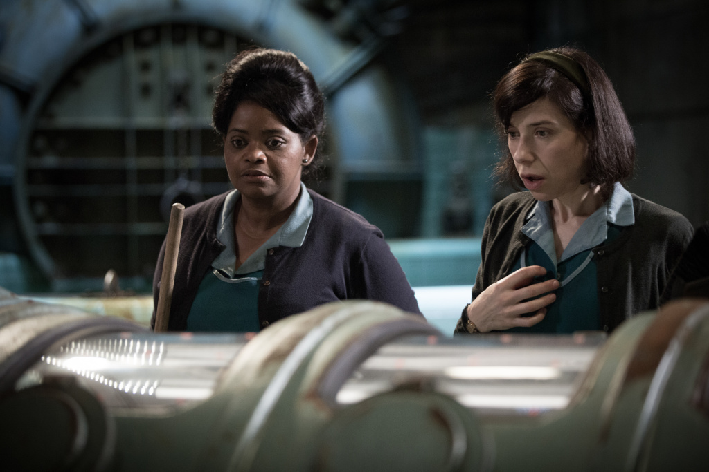 Octavia Spencer (L) and Sally Hawkins (R) in