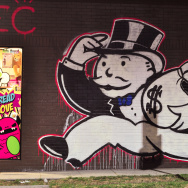 monopoly moneybags money cash street art