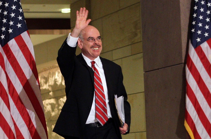 Representative Henry Waxman arrives for